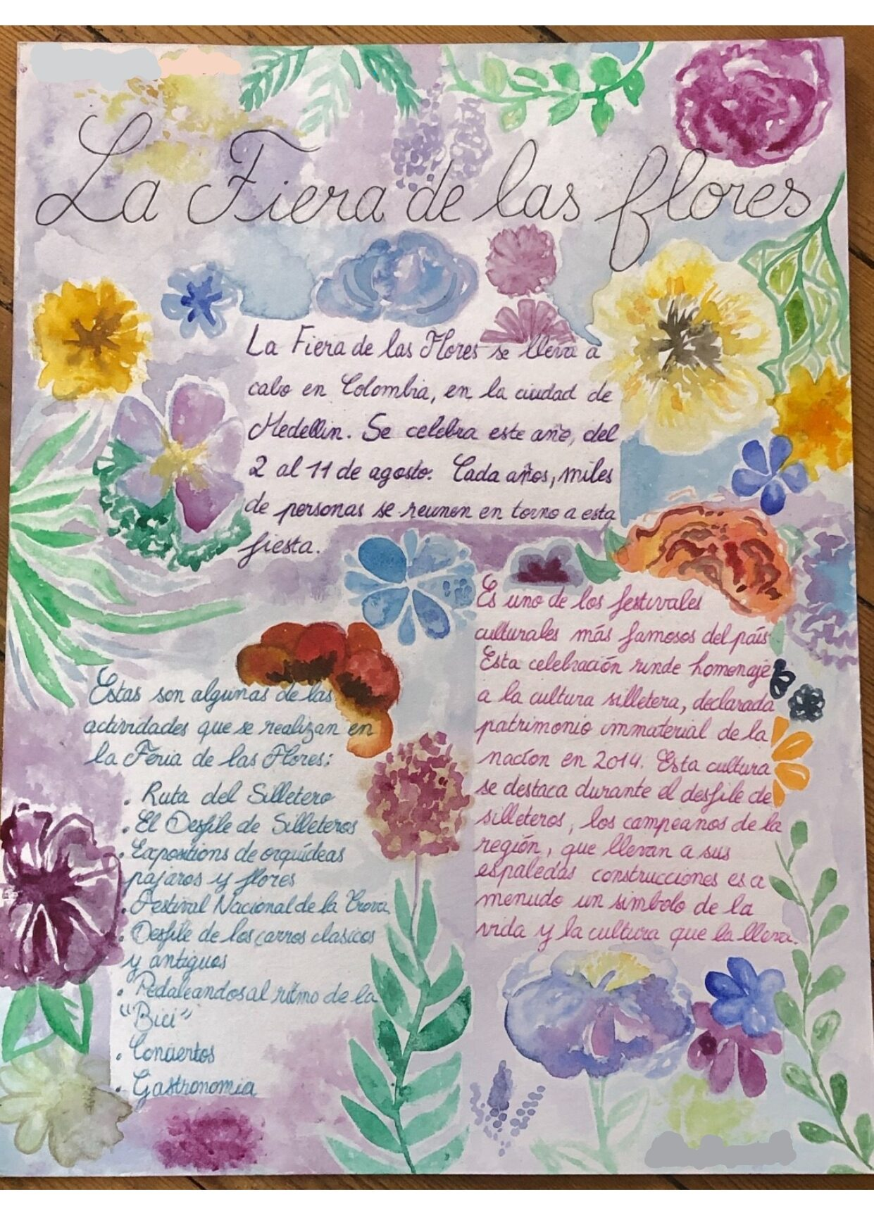 La Feria de las Flores par Léa Duprielle et Ethel Segalen-Martin (3èmeE)